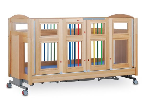 Colourful safety cot
