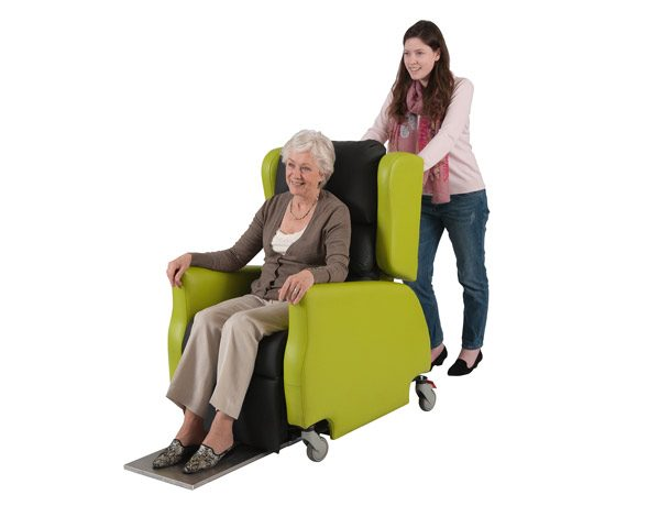 Pushable home chair in lime