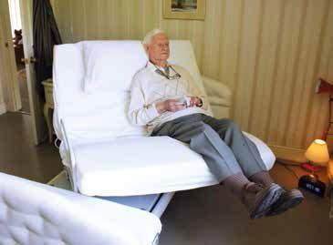 Man sat on rotating bed