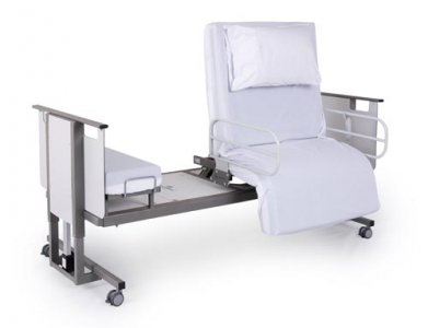 metal rotating hospital bed
