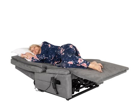 woman sleeping on chair bed recliner
