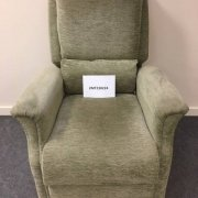 Green chinille Dual Motor Riser Recliner Chair