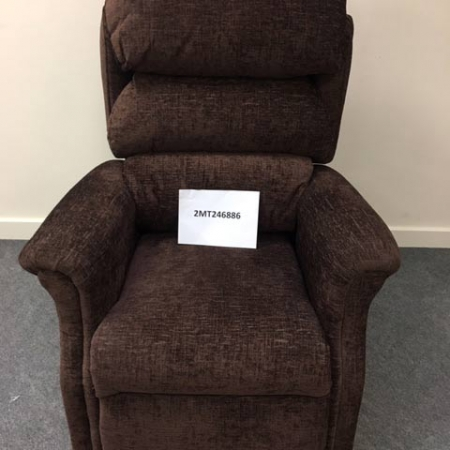 Brown Dual Motor Riser Recliner Chair