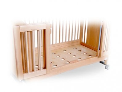 Cot base with holes