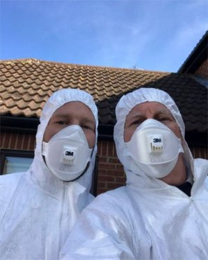 Theraposture virus safety suits and mask