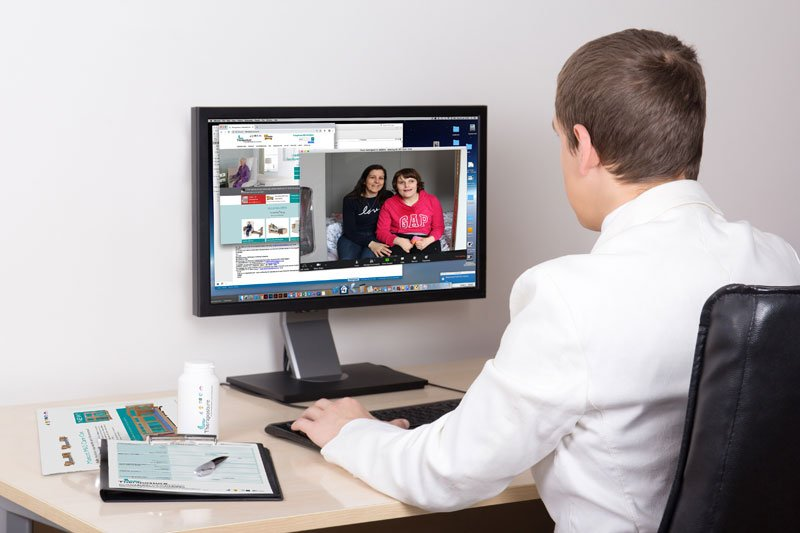 working with video chat