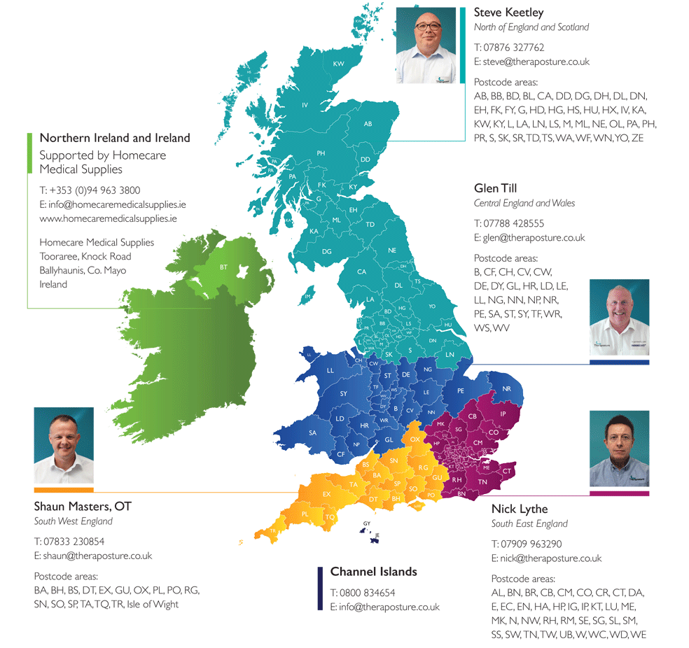 Trusted assessors contact map