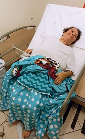 woman raised in rotating bed
