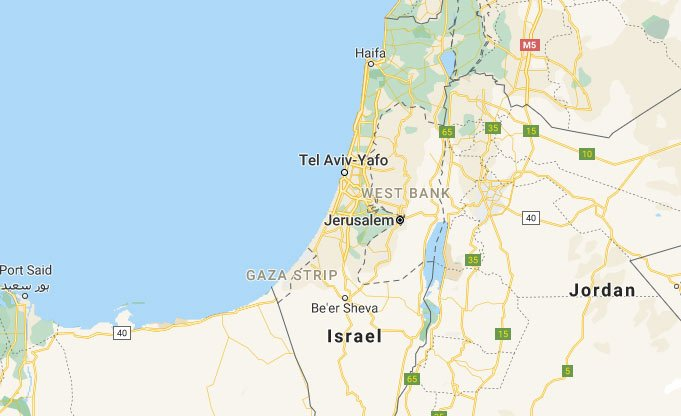Jerusalem, Israel map