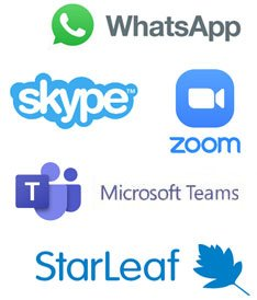 video chat app logos