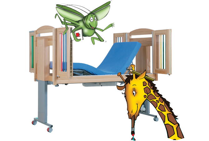 Adjustable care cot for children