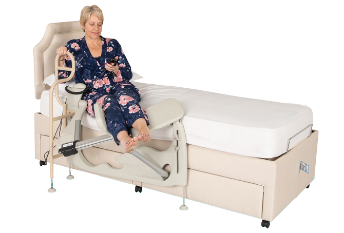 Leg lifter attached to bed